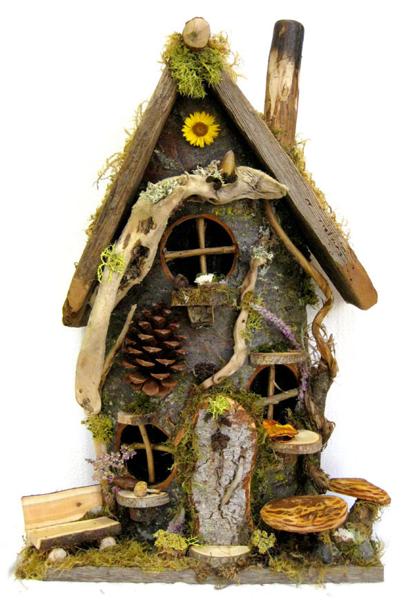 Flat-Backed Gnome Home ~ Large « Whimsical Woods